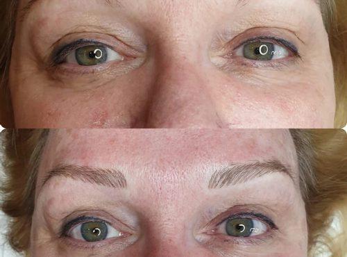 microblading4 result microblading brows cosmetic tattooing eyebrow bar semi permanent eyeliner tattoo eyelash extensions near me microblading surry hills paddington sydney salon